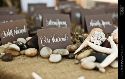 Beach theme Escort Cards  Gray Photography