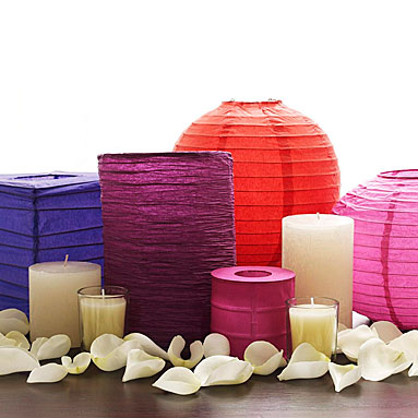 Easy DIY Centerpiece using paper lanterns