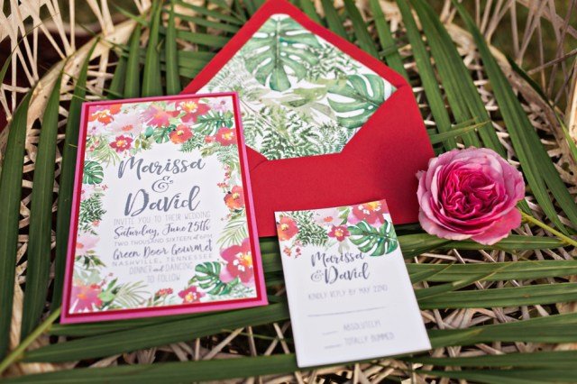 Fern Wedding Invitations Bohemian Tipi Green Door Gourmet Nashville Wedding