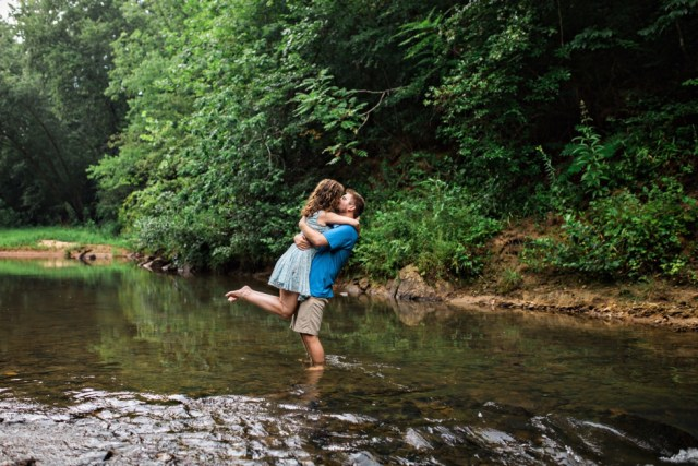 Creek Engagement Session North Carolina Mountains