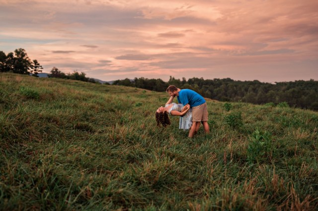 Sunset North Carolina Mountains Engagement Session