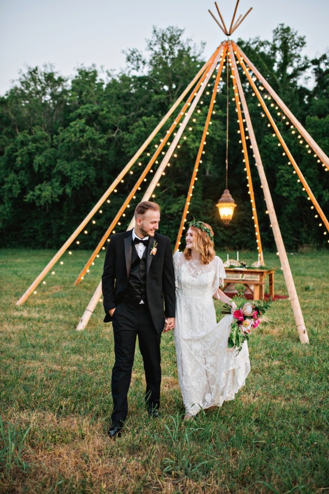 Boho Tipi Wedding Inspiration at Green Door Gourmet Nashville Photographer