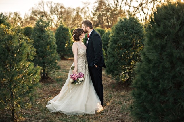 Christmas Tree Farm Elopement Nashville Wedding Photographer