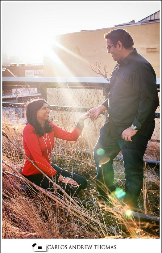 highline park,couple,engagemetn session , railroad tracks,romance,new york,wedding phtoography