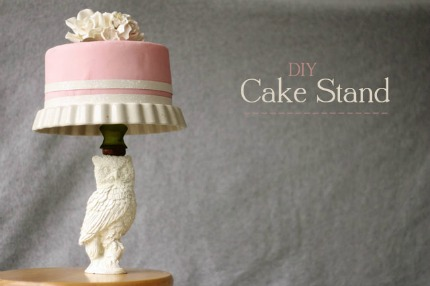 diy cake stand tutorial by one handspun day via green wedding shoes