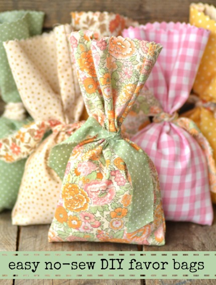 Easy No-Sew DIY Favor Bag Tutorial via Intimate Weddings