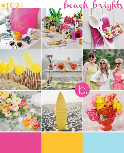 Beach Brights Inspiration via blovedweddings.com