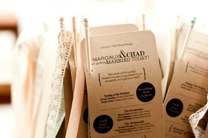 Modern Vintage Wedding Programs by Harmony Creative Studio via Emmaline Bride