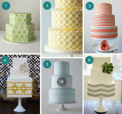 Geometric Wedding Cakes via Pearls for Paper