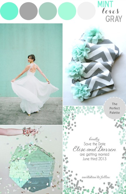 Mint Loves Gray via The Perfect Palette