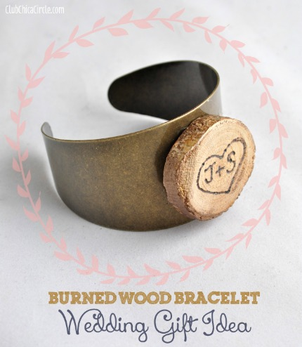 Burned Wood Bracelet Wedding Gift via club.chicacircle.com