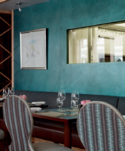 Nina Campbell Interiors A Fishy Tale Hotel Dining Room