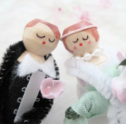 Le Petit Mariage Clothespins Wedding Party via Tinkered Treasures