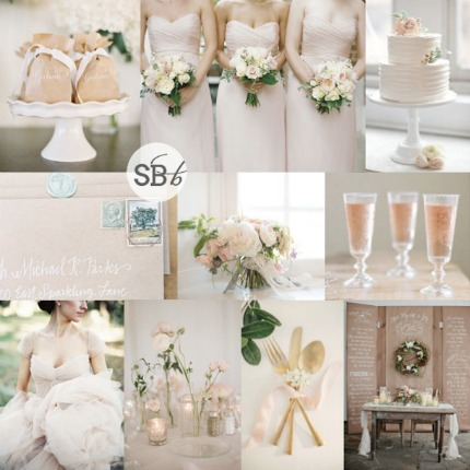 Kraft and Blush Wedding Inspiration vis Southbound Bride