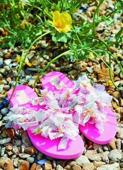 Seaside Tinkered Treasures Flip Flops