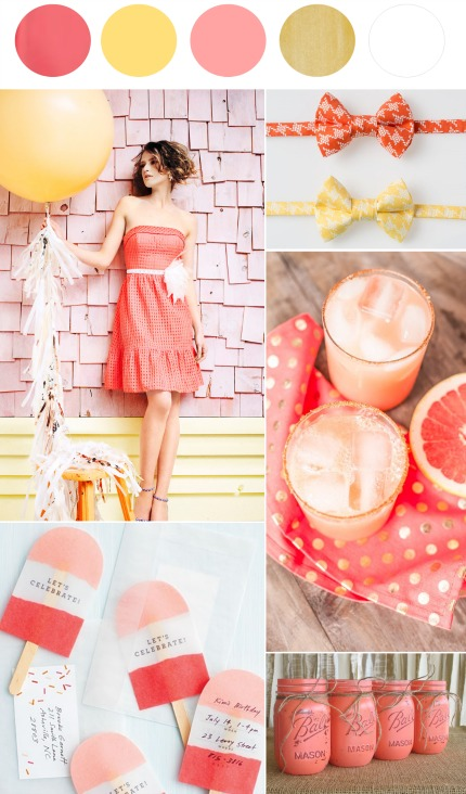 Citrus Wedding Inspiration via The Perfect Palette