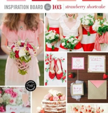 Strawberry Wedding Inspiration via Elegance and Enchantment