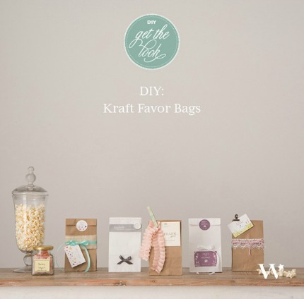 5 Beautiful DIY Kraft Favor Bags