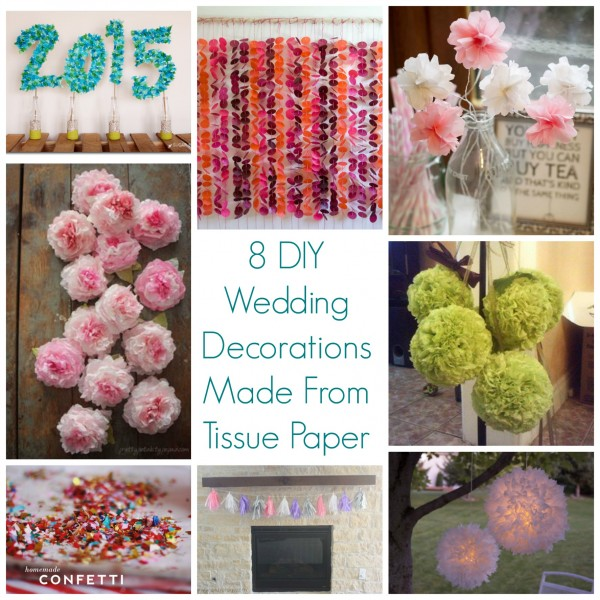 8 Diy Wedding Decorations Made From Tissue Paper Diy