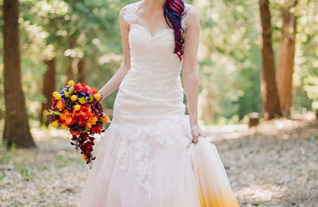 An Airbrushed Wedding Dress?  WOW!