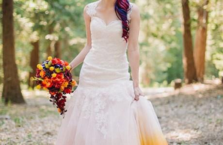 An Airbrushed Wedding Dress?  WOW!