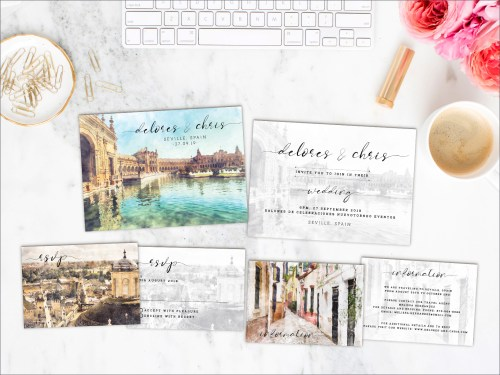 Medium Of Destination Wedding Invitations