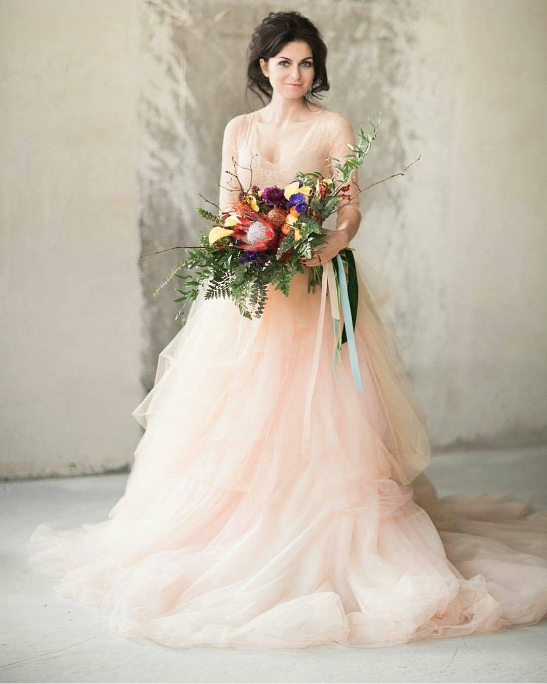 Winsome Er Brides Wedding Dress Looking A Non Wedding Dress This Peach Gown By Ca Rousel Official To Non Wedding Dress Colors Non Wedding Dresses wedding dress Non White Wedding Dresses