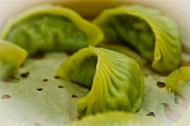 Steamed Vegetable and Pork Dumplings
