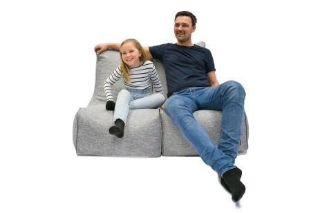 Bubba Duo er Norges første sakkosekk-sofa.