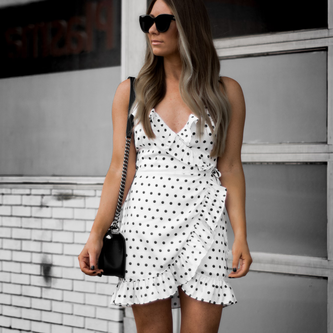 Exciting Ability To Adjust How Tight Or Loose You Tie M Around Love How It Shows A Bit More Leg Where Wrap Skirt Comes Polka Dot Wrap Dress Weekend Wishing houzz 01 How To Tie A Wrap Dress