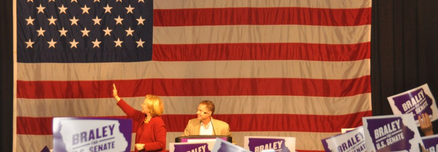 Hillary Clinton in Davenport, Iowa.
