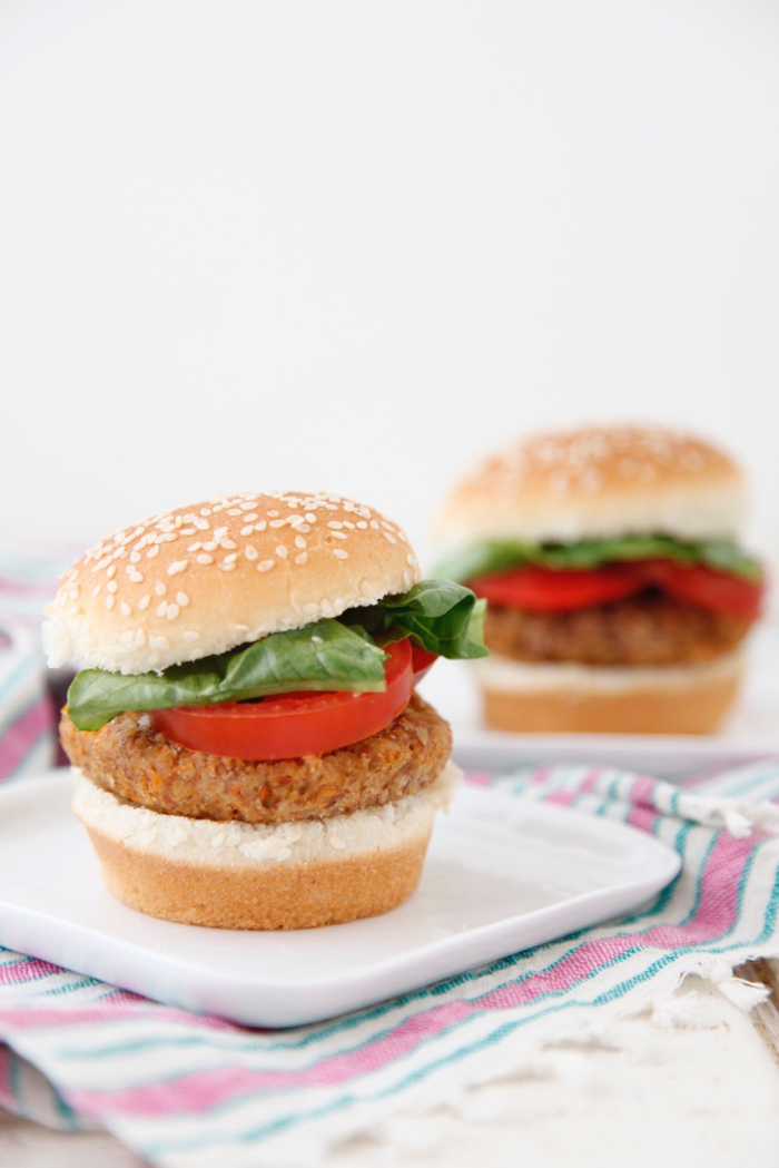 Veggie Burgers recipe from weelicious.com
