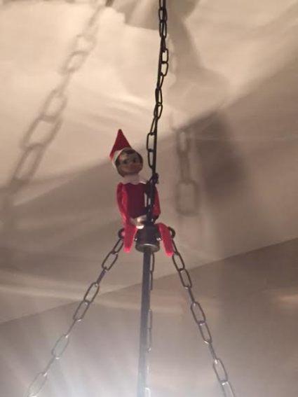 elf on the shelf light fixture