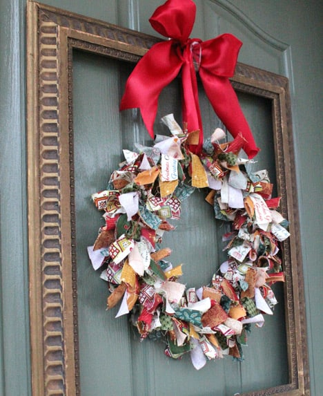 ragWreath3 How To: Rag Wreath and Lighted Garland Display