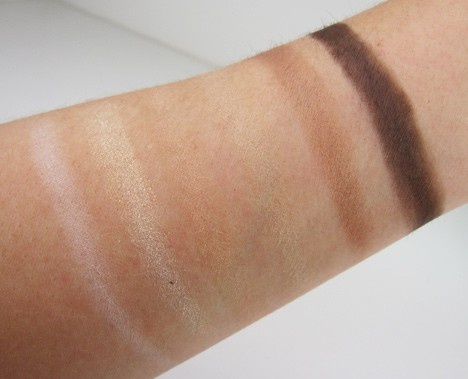 NYX Natural palette swatches