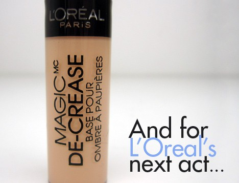 LOrealdecrease1 LOreal Magic De Crease Eyelid Primer   swatches and review