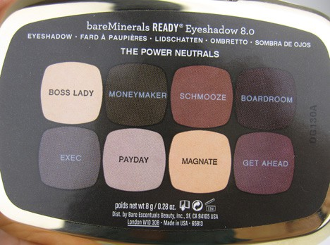 BareMinerals Power Neutrals eye shadows