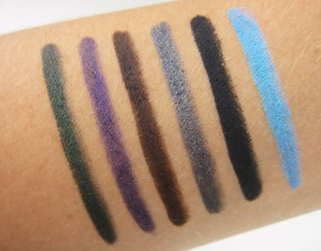 Jordana 12 hour liquid eyeliner pencil swatches