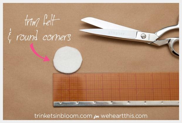 twisted pearl brooch cutting felt DIY Jewelry: Twisted Pearl Brooch