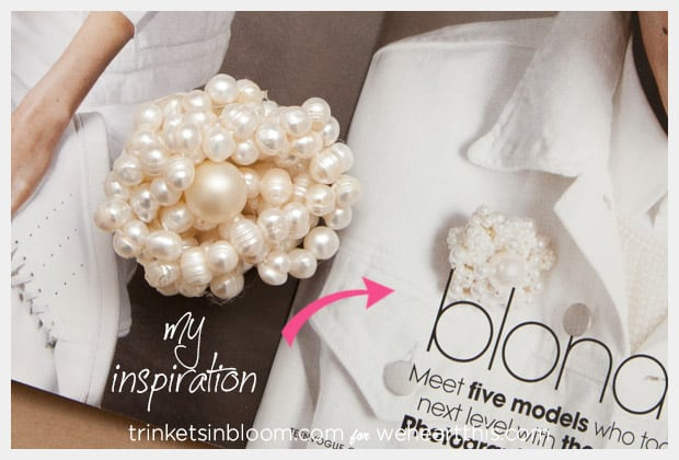 twisted pearl brooch inspiration DIY Jewelry: Twisted Pearl Brooch