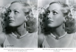 Joan Crawford retouched photo