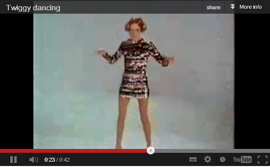 Twiggy dancing