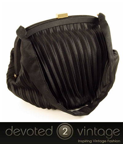 Vintage 1950s satin evening bag