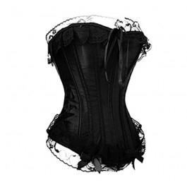 Black vintage style corset