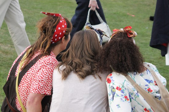 1940s land girls at Goodwood Revival 2012