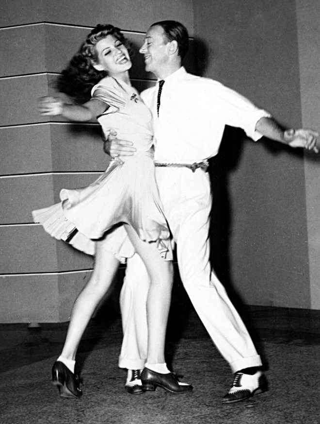 Rita Hayworth dancing with Fred Astaire
