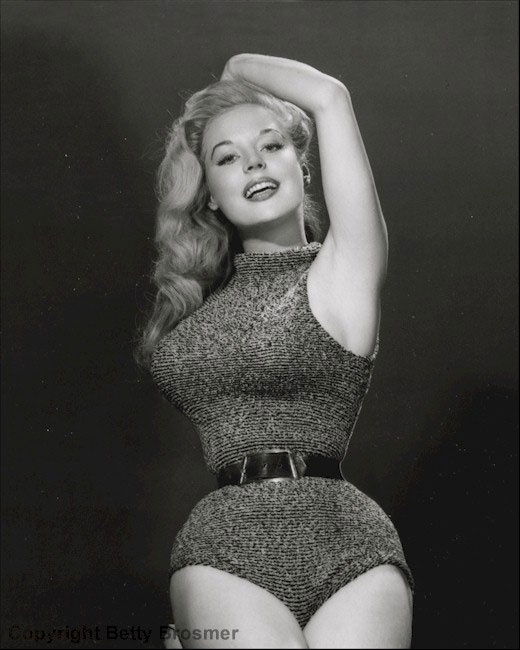 waist training: 1950s pin up girl Betty Brosmer