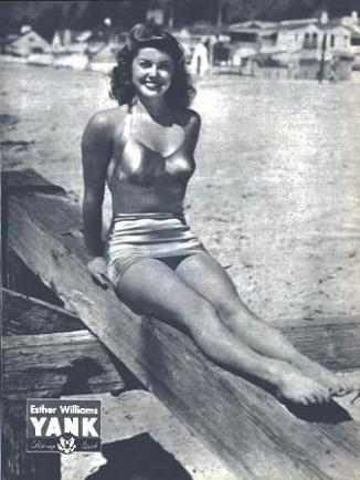 Esther Williams WWII pin up for YANK Magazine