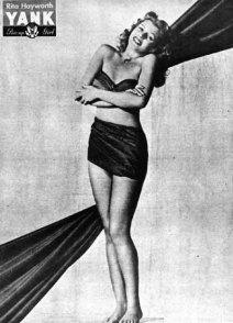 Rita Hayworth WWII pin up for YANK Magazine