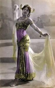 Postcard of Mata Hari in Paris 1906